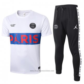 Chandal del Paris Saint-Germain Manga Corta 2020-2021 Blanco