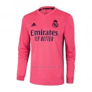 Camiseta Real Madrid Segunda Manga Larga 2020-2021